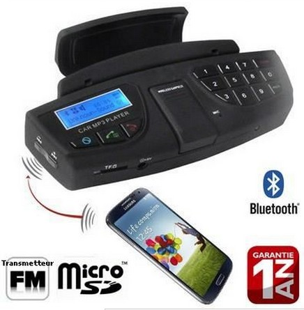 Kit Main Libre Bluetooth Volant Voiture